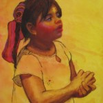 "La Piadosa, pastel and watercolor, 16"" x 20"", $895"